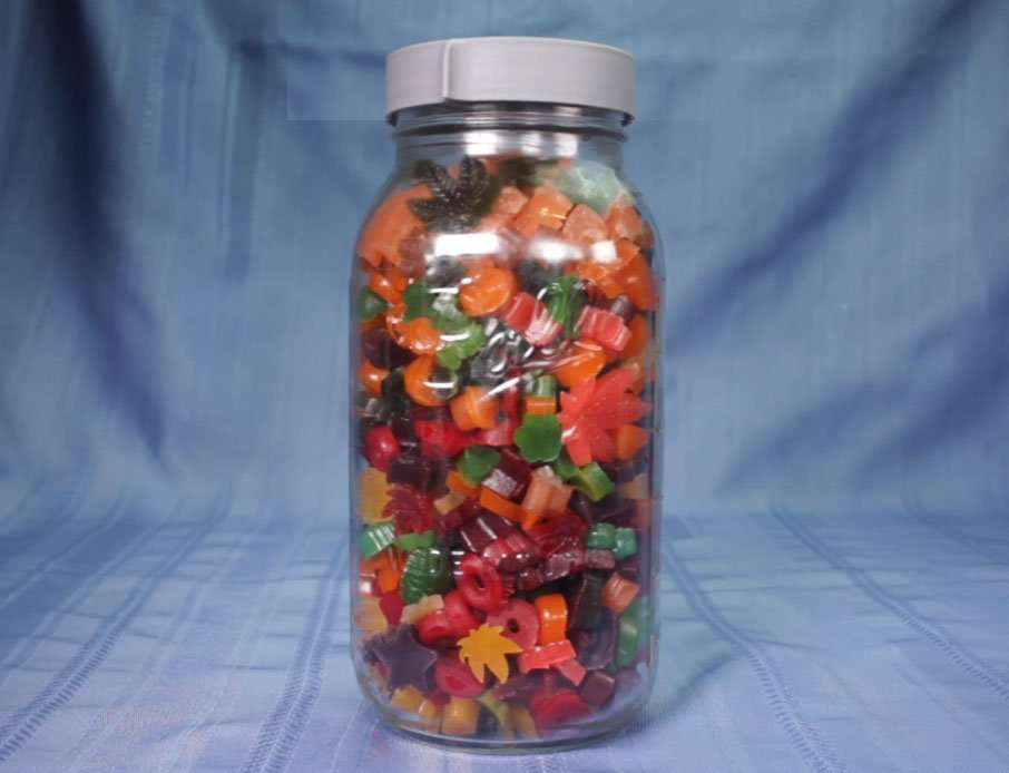 Jar of cannabis gummies